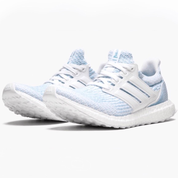 a2fb0a93d76 Adidas Parley Ultra Boost 3.0 White Blue M 6 W 7.5